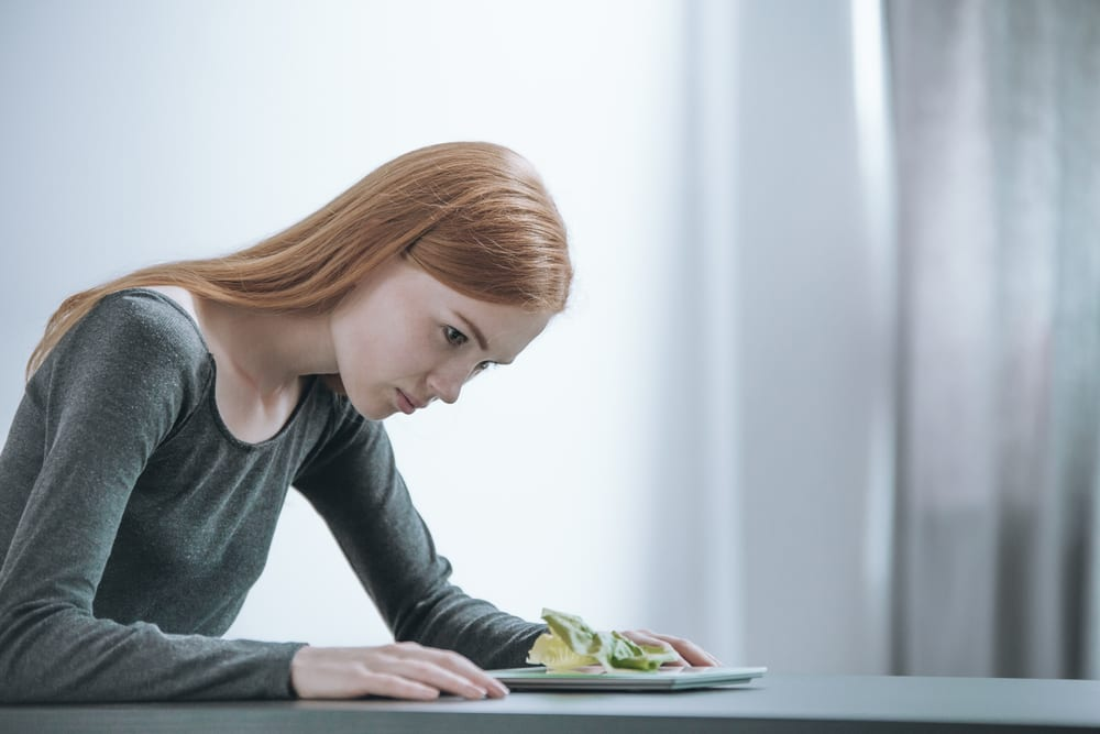 Adolescent is restricting food and at risk for anorexia and other eating disorders