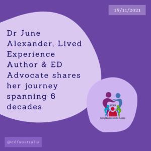 Dr June Alexander Author and ED Advocate webinar