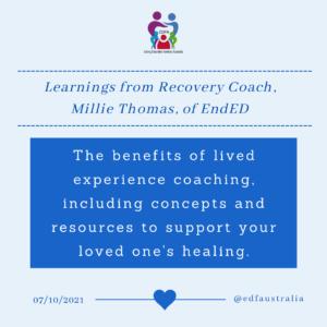 Millie Thomas webinar for Eating Disorders Families Australia